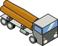 truck,remix,isometric,lorry,vehicle,wood,flatbed,clip art,media,public domain,image,svg