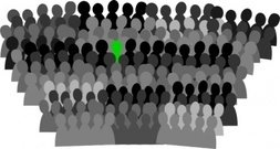 crowd,conference,group,convention,audience,gathering,meeting,protest,stand out,media,clip art,public domain,image,png,svg