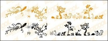lovely,animal,plant,material,vector