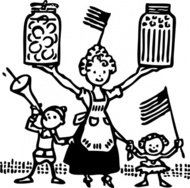 american,canning,food,farm,garden,cooking,family,america,people,cartoon