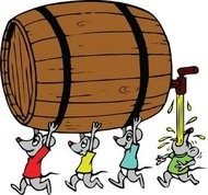 mouse,oak,barrel,rum,beer,cartoon,group,of,illustration