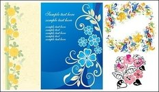 lovely,flower,design,pattern,vector,material