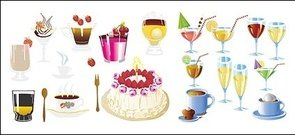 drink,cake,vector,material