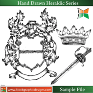 hand,drawn,heraldic,series,misc,shield,lion,horse,eagle,sword,dragon,crown,animal