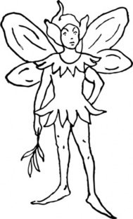 fairy,fantasy,person,imp,sprite,colouring book,media,clip art,externalsource,public domain,image,png,svg