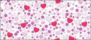 lovely,heart,shaped,flower,vector,background,material