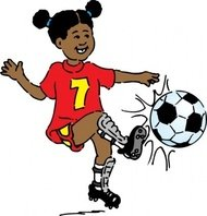 girl,playing,soccer
