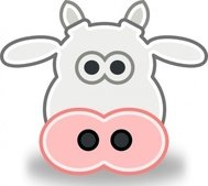 tango,style,head,cow,bull,cartoon,animal,media,clip art,public domain,image,svg