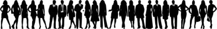 group,silhouette,black and white,black,people,manager,worker,office,media,clip art,public domain,image,svg