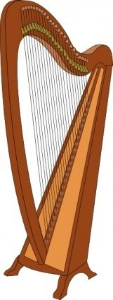 harp,music,musical instrument,instrument,media,clip art,public domain,image,png,svg