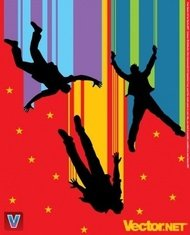 power,freedom,illustration,silhouette,people,flying,flight,illustration