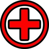 first,icon,contour,red,cross,help,first aid,health,sign,symbol
