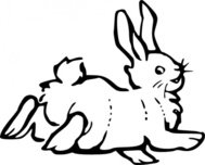 running,rabbit,outline,animal,farm,colouring book,nature,externalsource