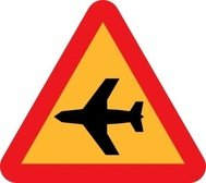 airplane,roadsign,clip