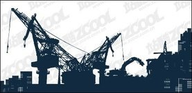 site,heavy,machine,material,crane,port