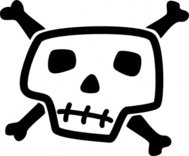 skull,bone,dead,jolly,roger,black,jack,flag,pirate,arrr,ahoy,skeleton,avast,treasure,lol,comic,stylized,cartoon,cartoony,totenkopf,head,man,crossbones,cross,piracy,pirattitude,talk,like,day,september,media,clip art,public domain,image,png,svg,bone,bone
