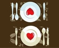 dinner,setting,plat,spoon,fork,heart,steak,knive,placemat.dinner,table,romatic,plat