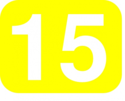 Yellow White Number Rounded Rectangle 15 Fifteen clip arts ...