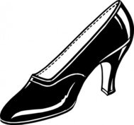 black,shoe,high heel,glossy,drawing,black and white,contour,outline,wikimedia common,psf