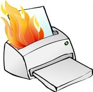 printer,burning