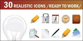 light,bulb,mark,lock,horn,compass,microphone,timer,ector,stopwatch,notepad,speaker,mic.trach,bin,recycle,binvector,rubber,gear,lcd,monitor,reel,cd,vector