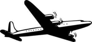 propellor,airliner,dc4,prop,outline,stylized,silhouette,airplane,aircraft,air,aeroplane,aerocraft,wing,fly,stencil