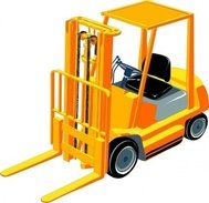 various,cliparts,transportation,cart,fork lift truck