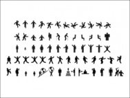sign,pictograms,fitness,woman