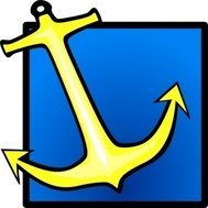 yellow,anchor,blue,background,sea,media,clip art,public domain,image,jpg,svg