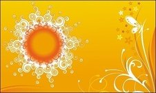 pattern,sun,orange,butterfly,swirl,circle,background,decor,decoration
