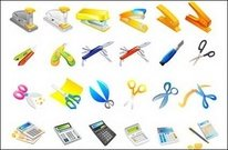 stapler,utility,knife,scissors,calculator,pen,misc,object,school,office,stapler,pen,object