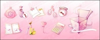 female,pink,icon,material,product,perfume,notebook,pen,earring,cosmetic,lipstick,calculator,foundation,purse,box,gift,vector,product,perfume,pen,earring,cosmetic,calculator,gift