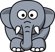 cartoon,elephant,clip
