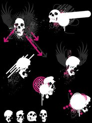 skull,misc,grunge,paint,wing,arrow,circle,punk,rock,anatomy,banner,body,bone,cranium,danger,dead,death,evil,gothic,halloween,horror,scary,shape,skeletal,splatter,spooky,winged,zombie,animals,backgrounds & banners,buildings,celebrations & holidays,christmas,decorative & floral,design elements,fantasy