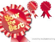 rosette,decoration,ribbon,red,motif,badge,medal