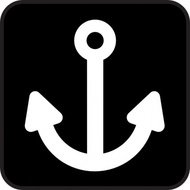 rope,ship,anchor,park,map,pictograph,symbol,sign,cartography