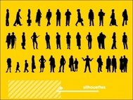 silhouette,men,woman,child,people,human