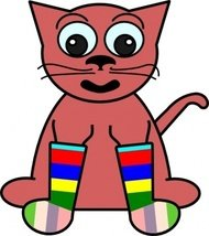 cartoon,rainbow,sock,color,cat,clothing,media,clip art,public domain,image,png,svg,sock,sock