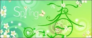 spring,theme,material,butterfly,flower,vine,green,vector,butterfly,flower,vine,design