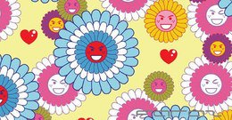 nature,flower,smiling,colorful,asian,pop,pop_3,pattern,heart,happy face,pop 3