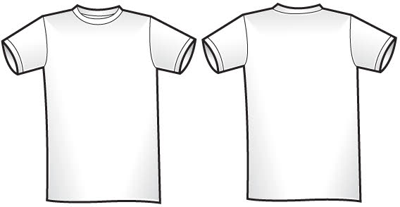 T shirt bilaterale template free vector clip art clipart for T shirt design template illustrator
