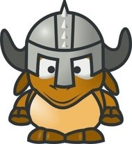 tonyk,knight,animal,antelope,gnu,cartoon,outline,character,horn,helmet