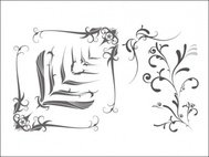 swooshes,fancy,corner,ornament,swirl,swoosh,corner design,star,decoration
