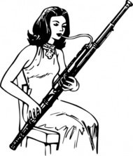 woman,playing,bassoon,people,music,musical instrument,woodwind instrument,line art,black and white,contour,coloring book,outline,musical instrument,woodwind instrument,wikimedia common,psf