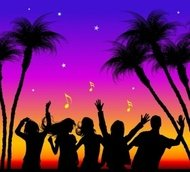 freevectors,holiday,people,enjoy,music,city,life,picture,material,freevectors-holiday,summer,night,note,singing,dancing,happy,happiness,tree,coconut,tropical,getaway,silhouette,group