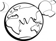 earth,moon,outline,cartoon,nature,line art,colouring book,sun,solar,india,russia,china,europe,globe,world,crescent,cloud,africa,asia,australia,aussie,antarctica,ice,polar,planet,star,creation,colour,color,genesis,bible,media,clip art,public domain,image,png,svg,india,russia,china,europe,earth,moon