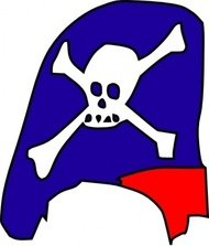 cartoon,pirate,skull,bone