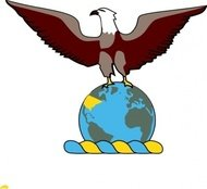 eagle,over,globe,clip