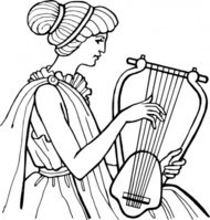 lyre,musical,instrument,people,woman,music,ancient,musical instrument,string instrument,line art,black and white,contour,outline,media,clip art,externalsource,public domain,image,png,svg,wikimedia common,psf,wikimedia common