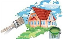 painting house,house,house landscape,painting,vector,material